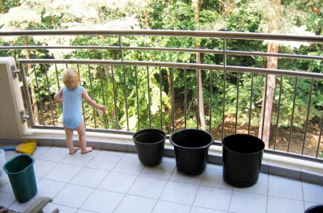 Balcony safe for the child
