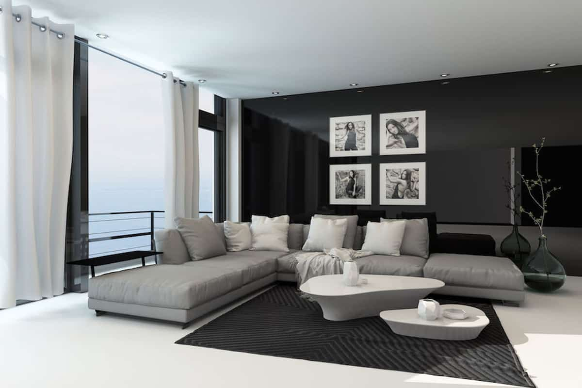 trends 2019 curtains in the living room to the ground or to the windowsill - Trends 2019 - curtains in the living room - to the ground or to the windowsill?