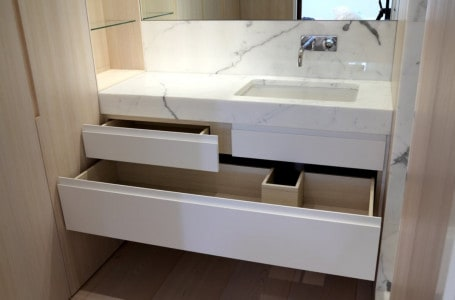 Wash basin cabinet with drawers – a practical solution for the bathroom