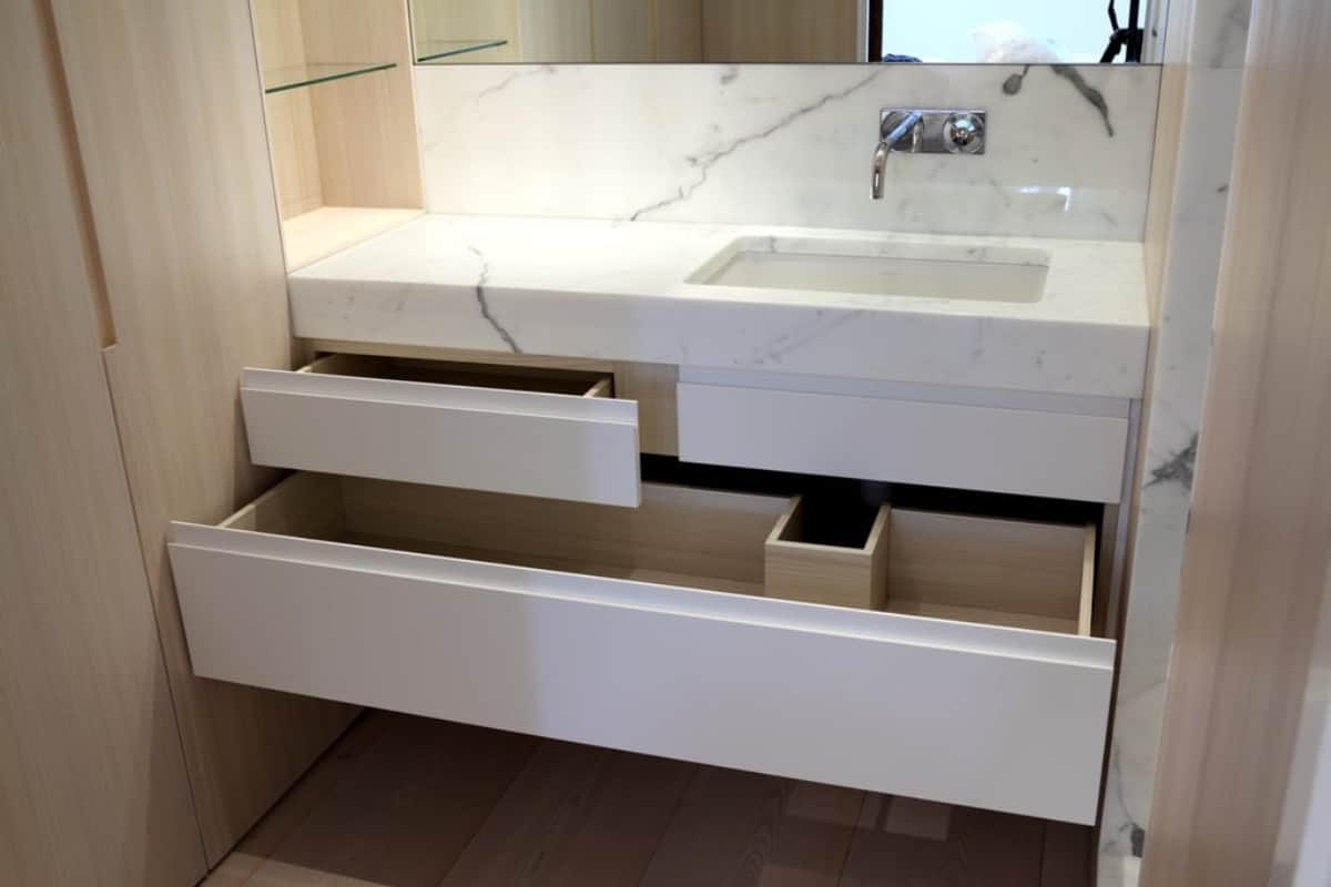 wash basin cabinet with drawers a practical solution for the bathroom - Wash basin cabinet with drawers - a practical solution for the bathroom